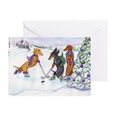hockey5x7a Greeting Card
