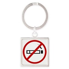 smoking Square Keychain