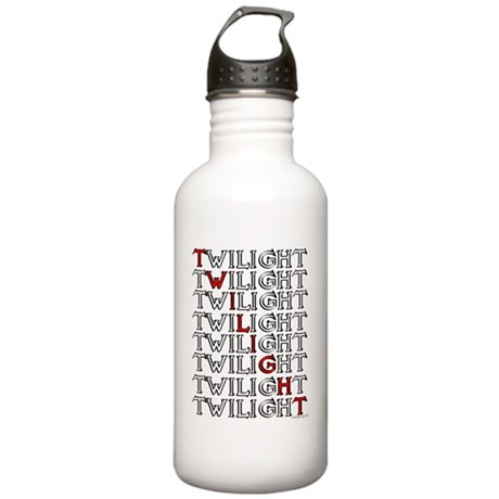twilight text square c Stainless Water Bottle 1.0L
