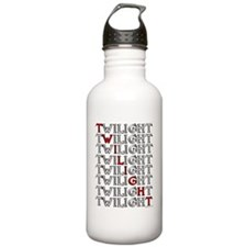 twilight text square c Water Bottle