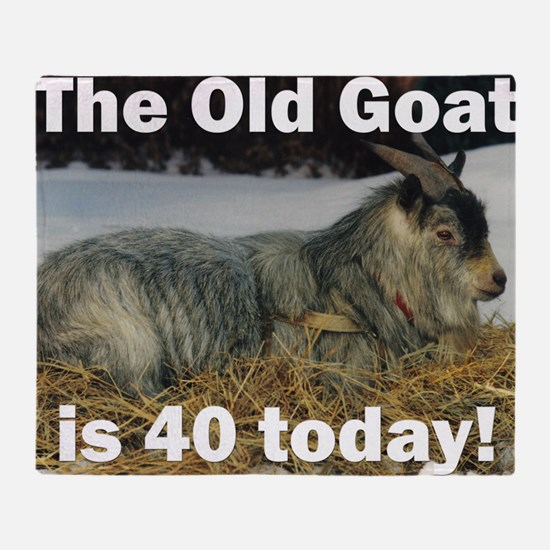 goat40ys Throw Blanket