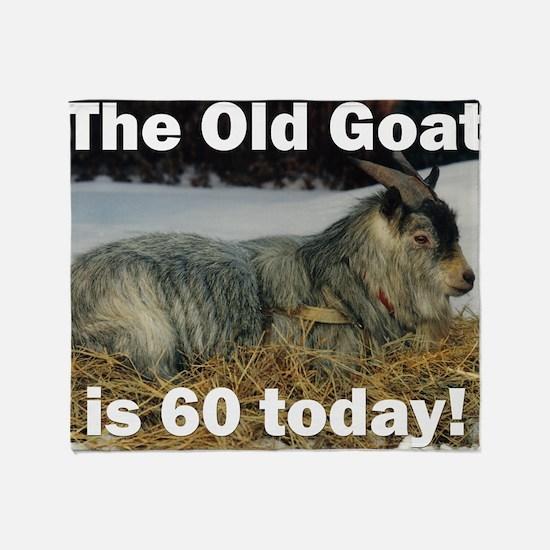 goat60ys Throw Blanket