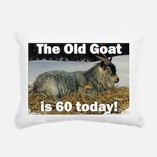 goat60ys Rectangular Canvas Pillow