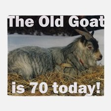 goat70ys Throw Blanket