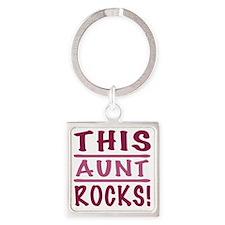 Rocks_Aunt Square Keychain