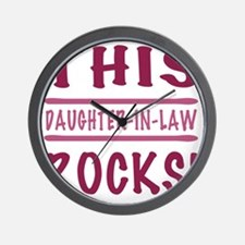 Rocks_DaughterInLaw Wall Clock