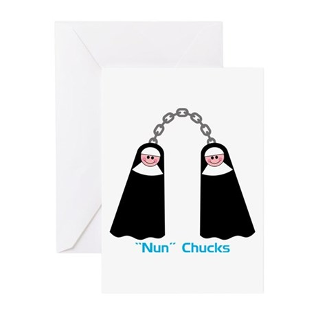 """Nun"" Chucks Greeting Cards (Pk of 10)"
