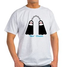 """Nun"" Chucks Ash Grey T-Shirt"