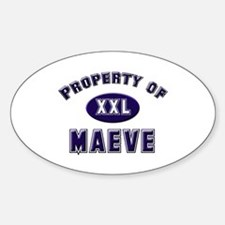 Property of maeve Oval Decal