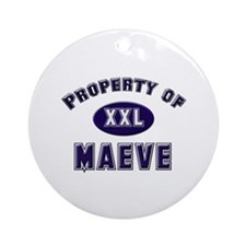 Property of maeve Ornament (Round)
