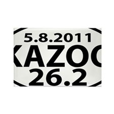 KAZOO 26.2 - kalamazoo marathon Rectangle Magnet