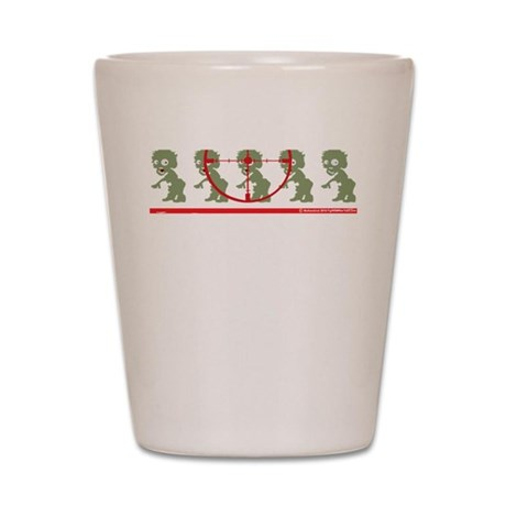 Id-Rather-Be-Hunting-Zombies-blk-2 Shot Glass