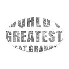 Grunge_GreatGrandpa Oval Car Magnet