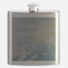 Nympheas at Giverny, 1908 by Claude Monet Flask