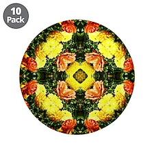 """kaleido art flowers 3.5"""" Button (10 pack)"""