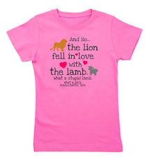 Lion  Lamb Clock Girl's Tee