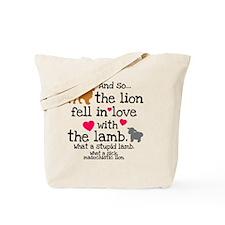 Lion  Lamb Clock Tote Bag