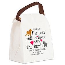 Lion  Lamb Btn Canvas Lunch Bag