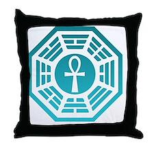 Blue Ankh Calendar Throw Pillow