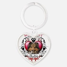 My Heart Belongs to a Sheltie Heart Keychain