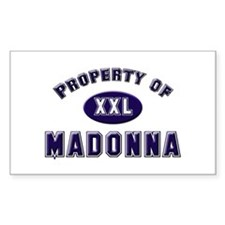 Property of madonna Rectangle Decal