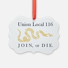 unionlocal116rectangle Ornament
