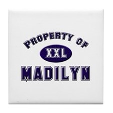Property of madilyn Tile Coaster