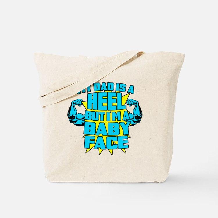 My Dad is a Heel Blue Tote Bag