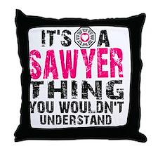 Sawyer Clock Throw Pillow
