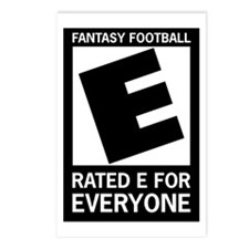 Fantasy-Football-Rated-E- Postcards (Package of 8)