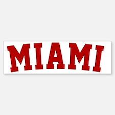 Miami Red BB Bumper Bumper Sticker