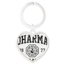 Dharma77 Heart Keychain