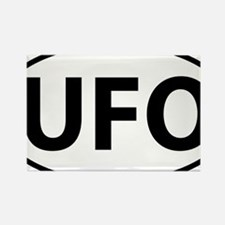 UFO Rectangle Magnet