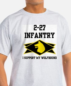 2-27 Infantry Wolfhounds Ash Grey T-Shirt