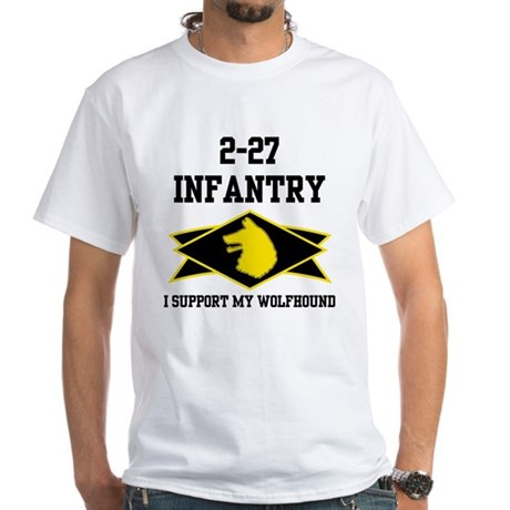 2-27 Infantry Wolfhounds White T-Shirt
