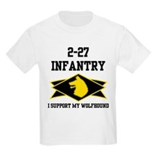 2-27 Infantry Wolfhounds Kids T-Shirt