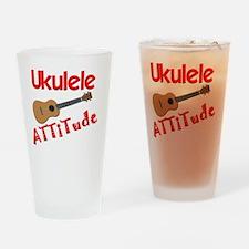 Ukulele Attitude Drinking Glass