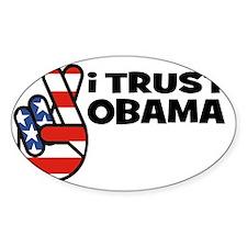 trust obama Decal