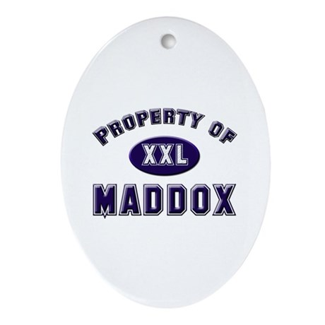Property of maddox Oval Ornament