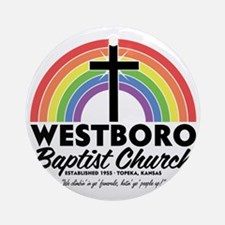 Westboro Baptist Light Round Ornament