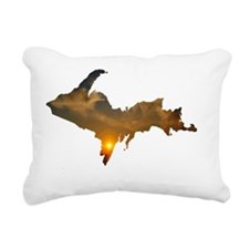Porcupine_Mts_Sunset_001 Rectangular Canvas Pillow