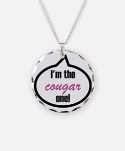 Im_the_cougar Necklace Circle Charm