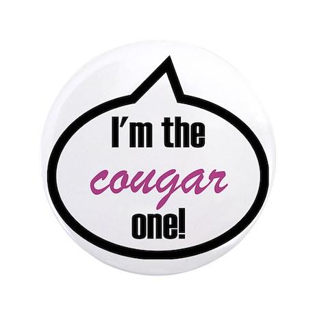 "Im_the_cougar 3.5"" Button"