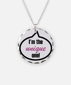 Im_the_unique Necklace Circle Charm