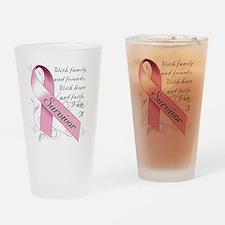 Breast Cancer Survivor Drinking Glass