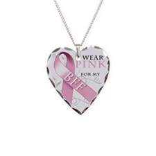 I Wear Pink for my BFF Necklace Heart Charm