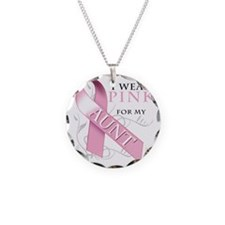 I Wear Pink for my Aunt Necklace Circle Charm