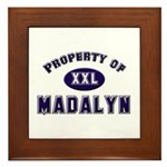 Property of madalyn Framed Tile