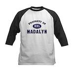 Property of madalyn Kids Baseball Jersey
