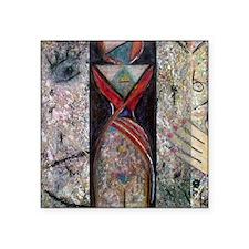 """Nefertiti Mummy Square Sticker 3"""" x 3"""""""
